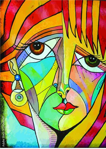 Chica pensativa Wallpaper Mural