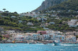 Superb view of the port of Capri and its many boats