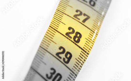 Papel de parede  Measuring tape, selective focus on 28
