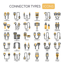 Connector Types , Thin Line An...