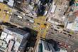 Top view of Hong Kong traffic road