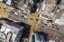 Top View Of Hong Kong Traffic ...