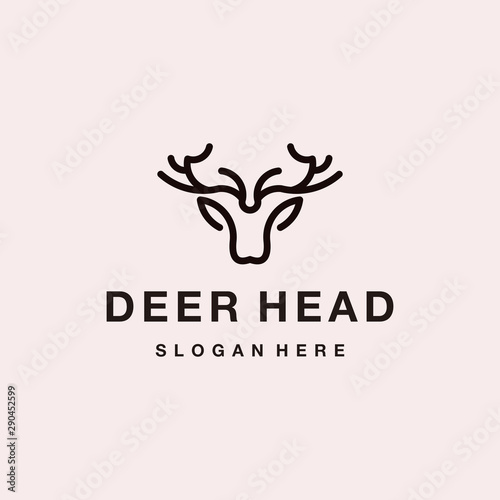 Deer Head Logo vector graphic Design