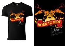 Black T-shirt Design With Moto...