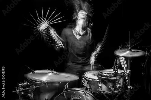Photo drummer in action