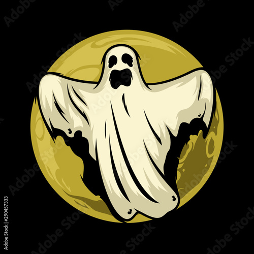 spirit ghost vector in the night Canvas Print