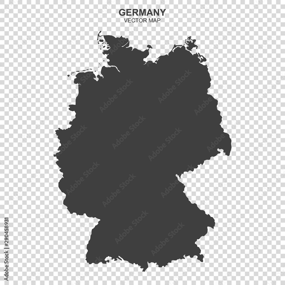 Fototapeta vector map of Germany isolated on transparent background