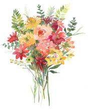 Flower Watercolor Bouquet