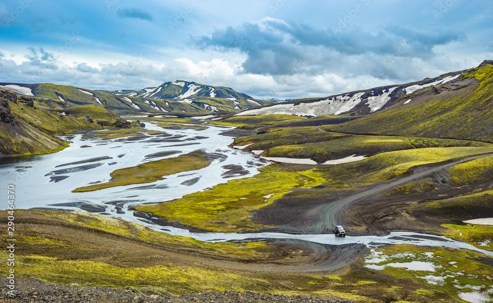 Fototapeta Scenic highland area of Landmannalaugar, Iceland