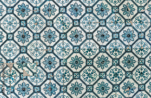 Εκτύπωση καμβά Background of vintage ceramic tiles