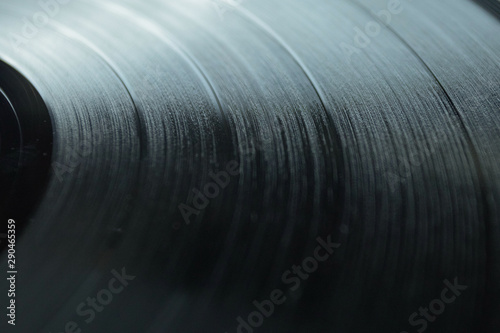 Vinyl Record Close Up Vintage Music Background Wallpaper Mural