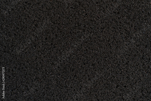 abstract dark black foam rubber texture, macro view, protection textured surface Wallpaper Mural