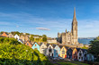 canvas print picture - Impression of the St. Colman's Cathedral in Cobh near Cork, Ireland