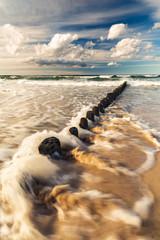 Baltic sea with wavebreaker