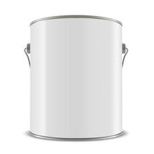 3d White Tub, Paint Bucket Con...