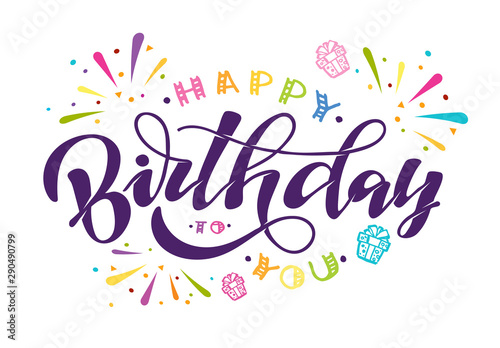 Photo  Happy Birthday to You - cute hand drawn doodle lettering postcard poster art
