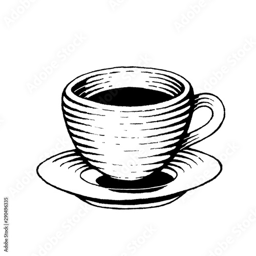 Valokuva Ink Sketch of a Coffee Cup
