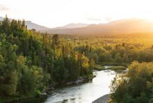 The Sun Setting Over A River I...