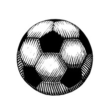 Ink Sketch Of A Soccer Ball