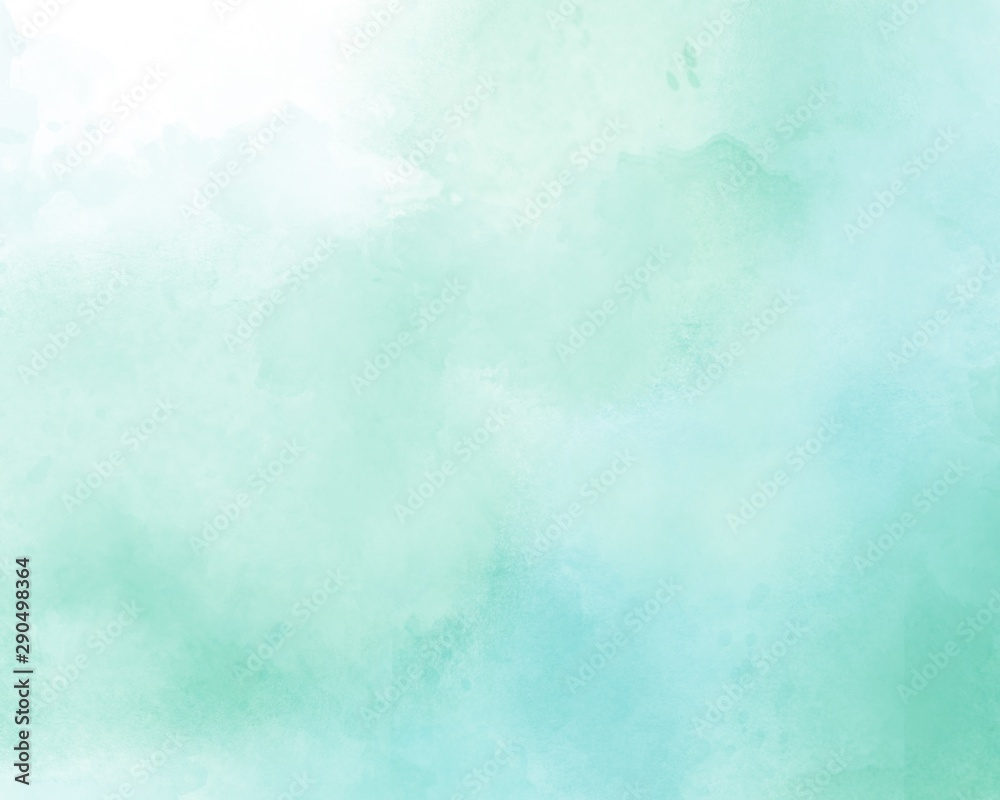 Fototapeta Blue abstract watercolor background