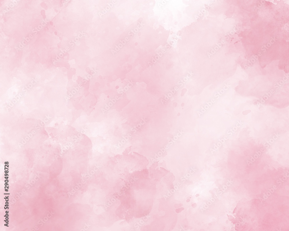 Fototapety, obrazy: Pink abstract watercolor background