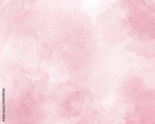 Pink abstract watercolor background Canvas Print