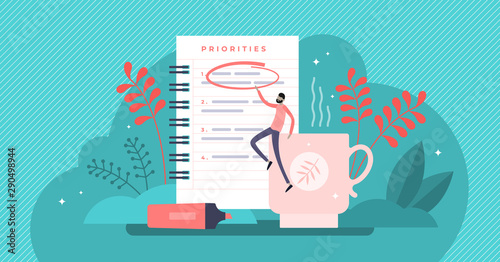 Photo Priorities vector illustration