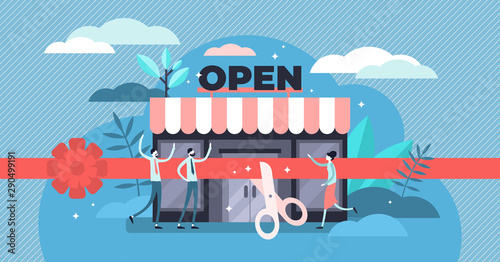 Obraz na plátně  Open business vector illustration