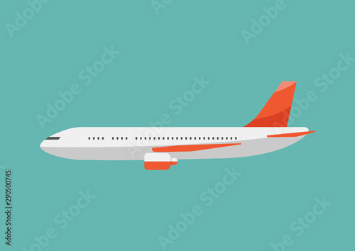 Airplane flat style illustration