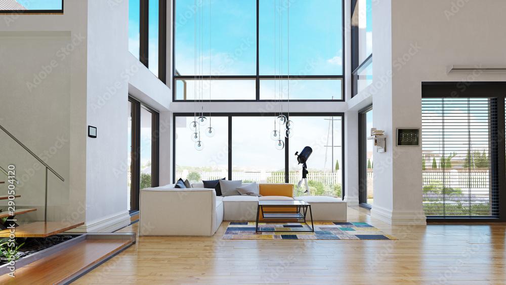 Fototapeta modern house interior.