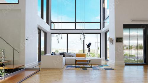 modern house interior. Tableau sur Toile
