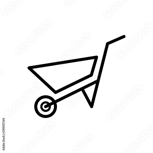 Photo wheel barrow icon