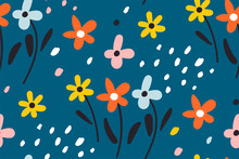 Ditsy Floral Background.Cute P...
