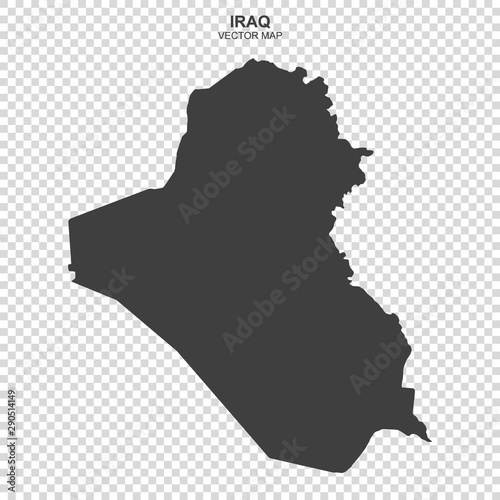 political map of Iraq on transparent background Tablou Canvas