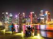シンガポール マリーナベイ 夜景