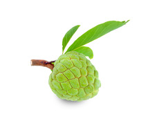 Sugar Apple With Leaves Isolat...