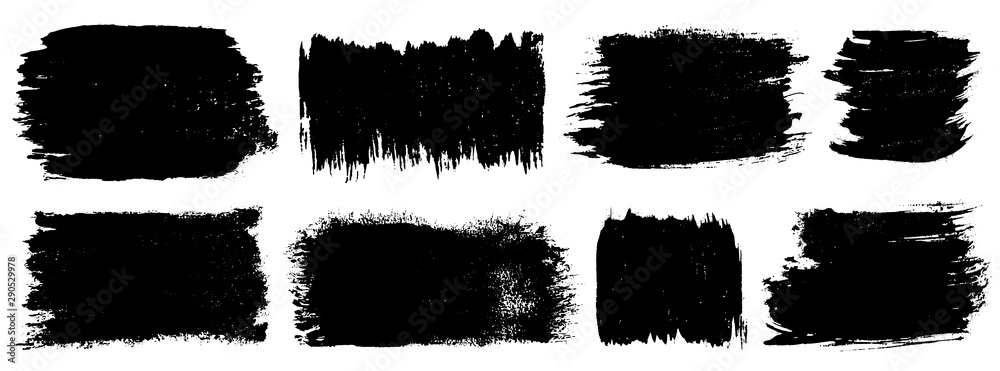 Fototapety, obrazy: Grunge set. Detailed grunge backgrounds. Stain. Ink splash. Isolated backdrops for text or logo. Liquid. Paint strokes collection. Dust. Durt. Ink. Place for text. Design element.
