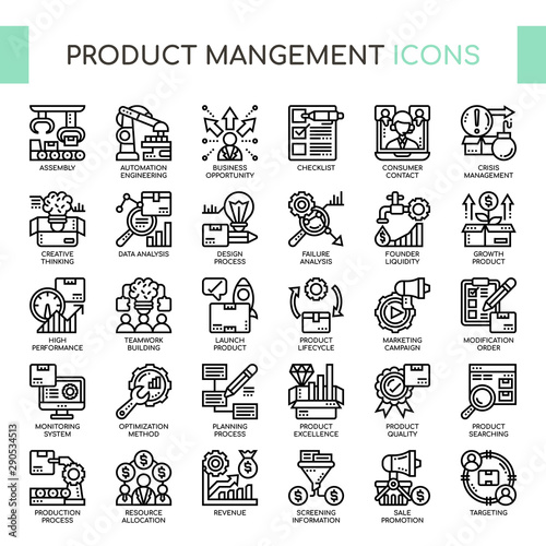Photo Product mangement , Thin Line and Pixel Perfect Icons