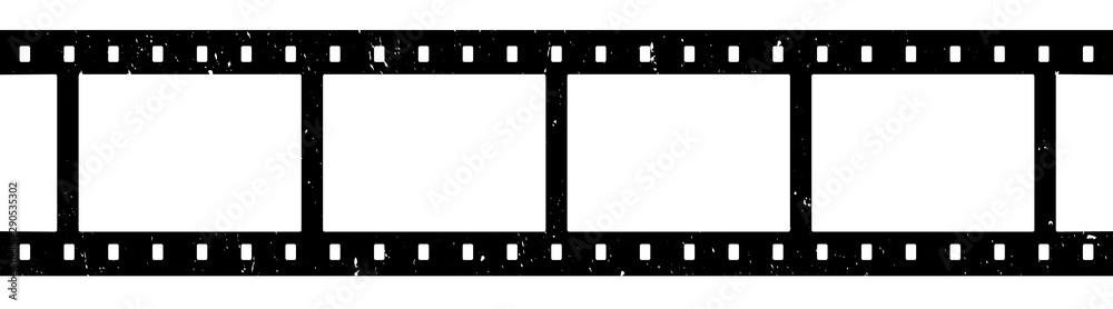 Fototapety, obrazy: Blank film strip isolated on white