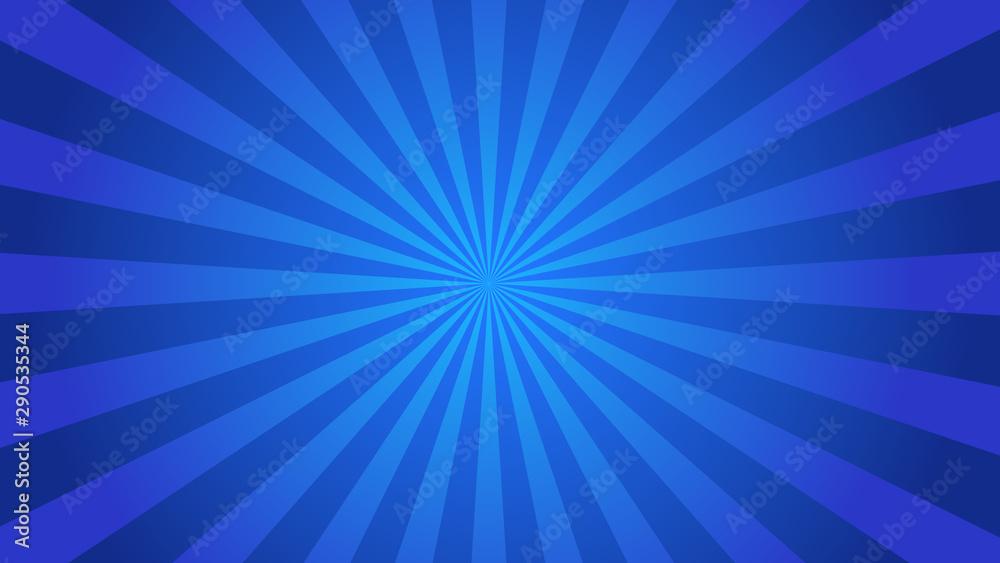 Fototapety, obrazy: Starburst abstract blue background