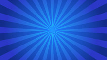 Starburst Abstract Blue Backgr...