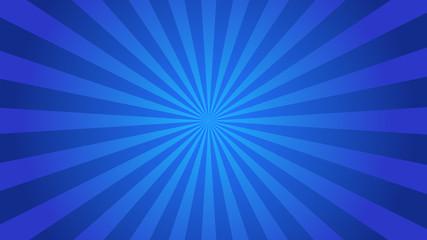 Starburst abstract blue background