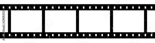 Fototapeta Blank film strip isolated on white
