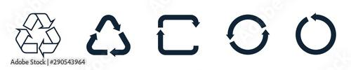 Fotografía  Recycling symbol icon set