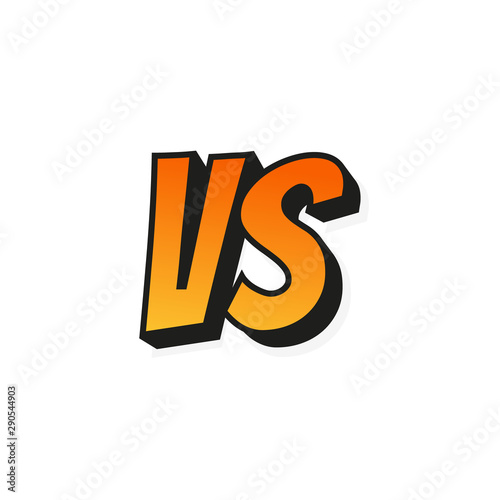 Concept Vs Fight Versus Sign Gradient Style Isolated On