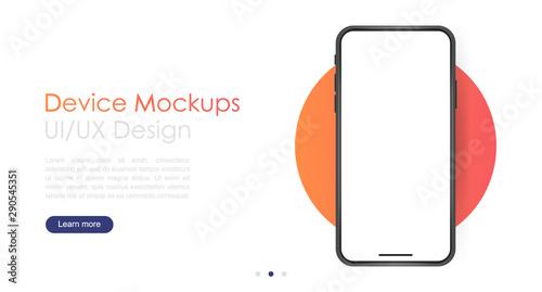 Fotografía Smartphone blank screen, phone mockup