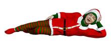 3D Rendering Christmas Elf On ...
