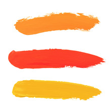 Abstract Watercolor Brush Stro...