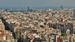 Barcelona City landscape view