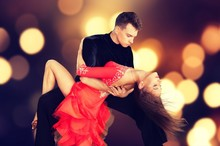 Man And A Woman Dancing Salsa ...